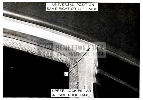 1952 Buick Upper Lock Pillar at Side Roof Rail