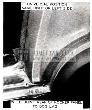 1952 Buick Weld Joint Rear of Rocker Panel