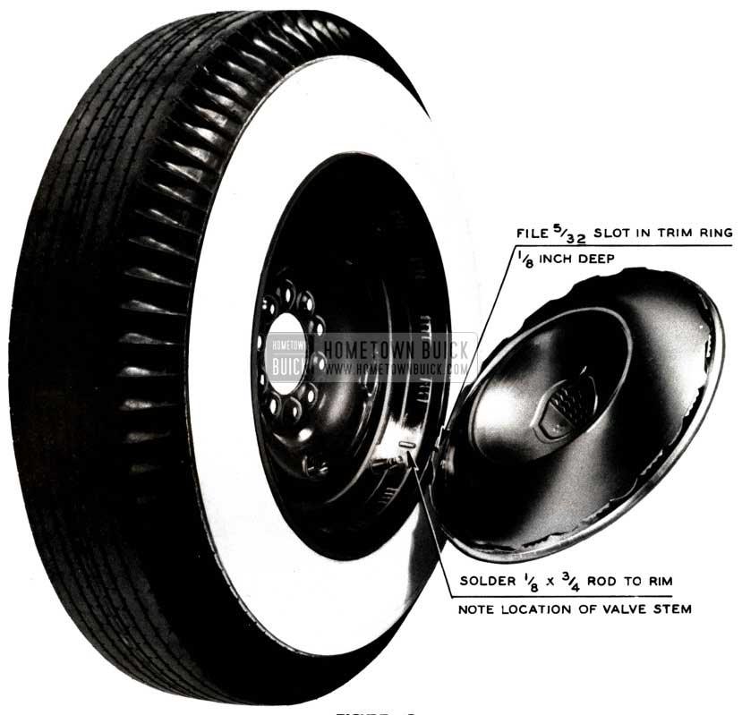 1952 Buick Wheel Cover Installation