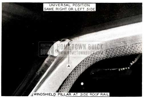1952 Buick Windshield Pillar at Side Roof Rail