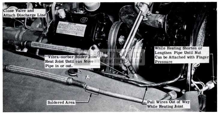 1953 Buick Air Conditioner Assembly in Engine Compartment