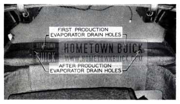 1953 Buick Air Conditioning Evaporator Drain Holes
