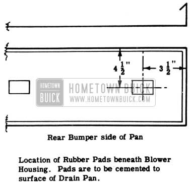 1953 Buick Blower Housing Rubber Pads