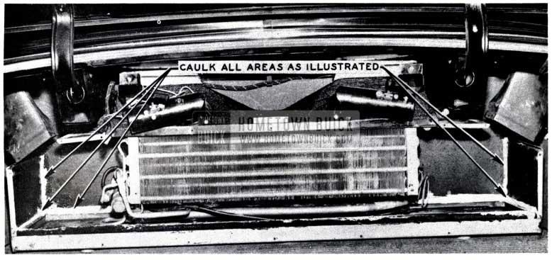 1953 Buick Caulking Areas