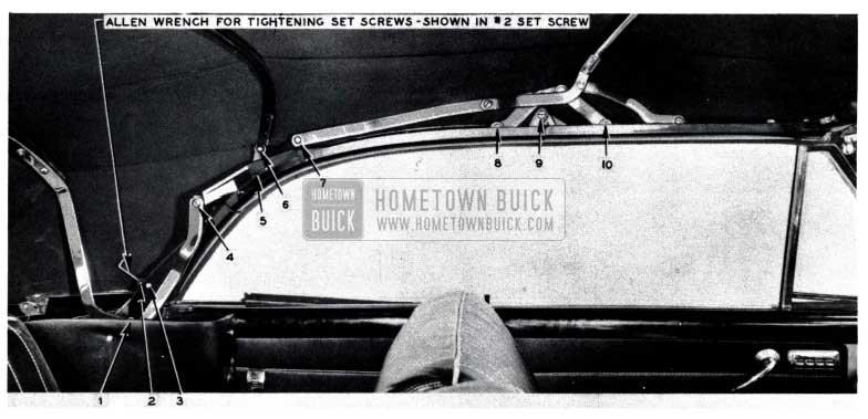 1953 Buick Convertible Top Rear Bow