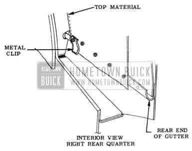 1953 Buick Convertible Top Rear Quarter Interior View
