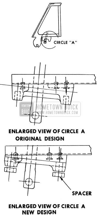1953 Buick Door Ventilator Regulator
