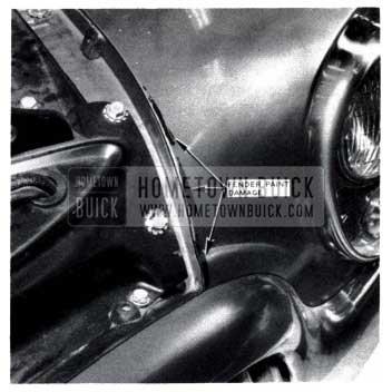 1953 Buick Fender Paint Damage