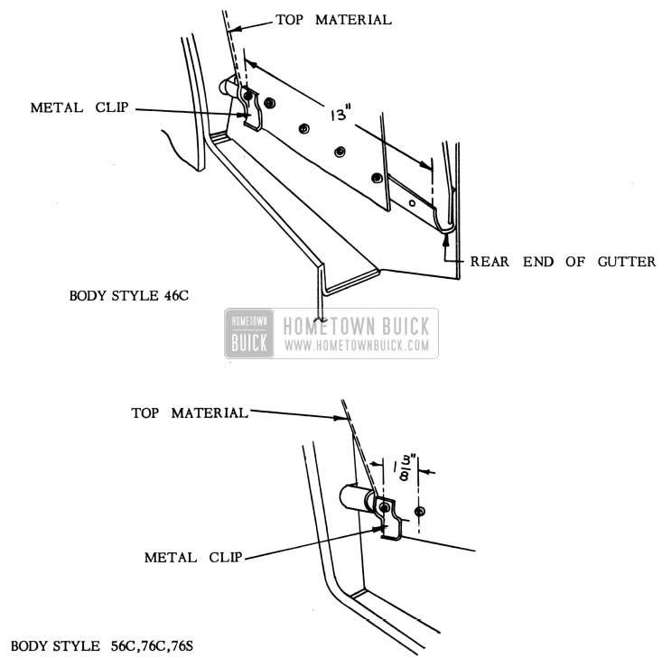 1953 Buick Folding Top Metal Clip Installation
