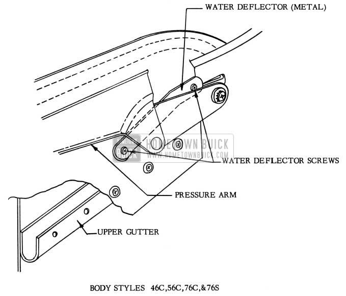 1953 Buick Folding Top Metal Water Deflector Installation