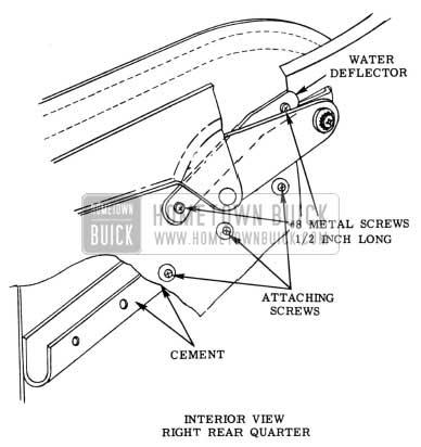 1953 Buick Folding Top Rear Quarter Interior View