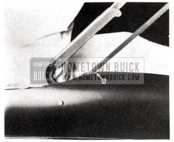 1953 Buick Folding Top Rear Quarter Work