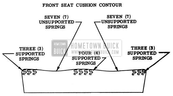 1953 Buick Front Seat Cushion Contour