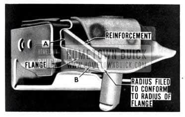 1953 Buick Front Seat Flange Reinforcement