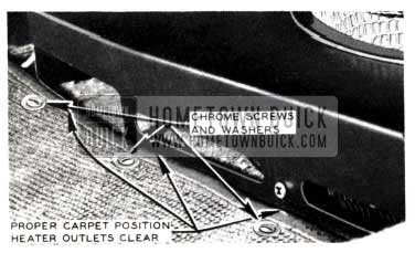 1953 Buick Heater Outlets Clearance