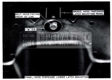 1953 Buick Hood Fastener Latch Bolt