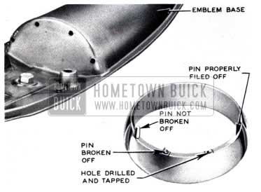 1953 Buick Hood Ornament Ring Replace
