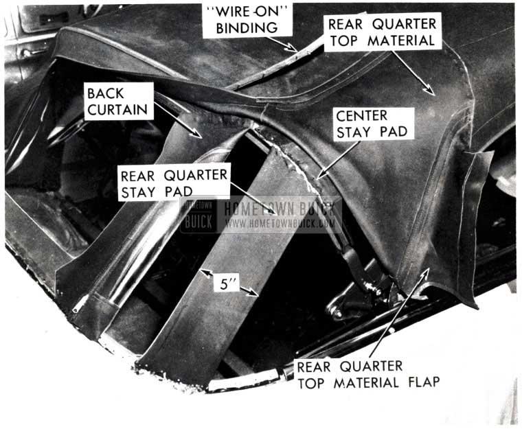 1953 Buick Rear Quarter Top Material Flap