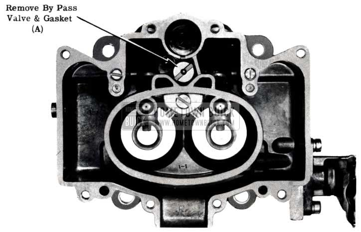 1953 Buick Remove Carburetor By Pass Valve and Gasket