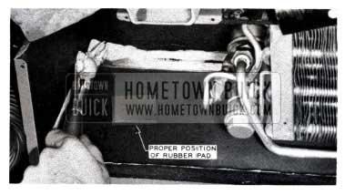 1953 Buick Remove Drain Pan