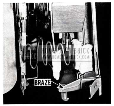 1953 Buick Remove Front Seat Clamp and Braze
