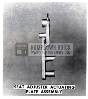 1953 Buick Seat Adjuster Actuatating Plate Assembly