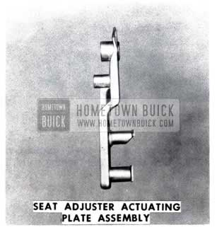 1953 Buick Seat Adjuster Actuating Plate Assembly