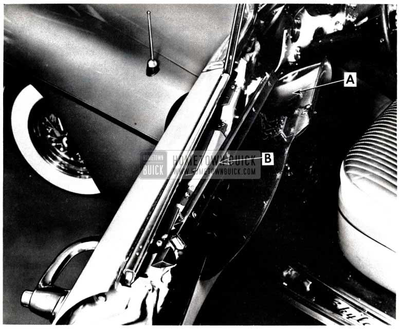 1953 Buick Skylark Window Sash Upper Channel