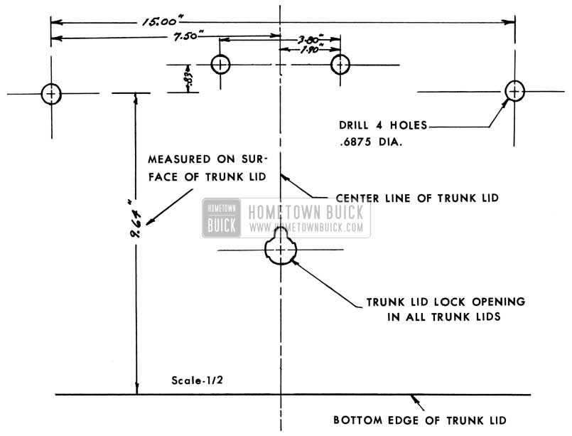 1953 Buick Trunk Lids Drilling Information
