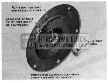1954 Buick Air Conditioning Compressor Clutch Bearing