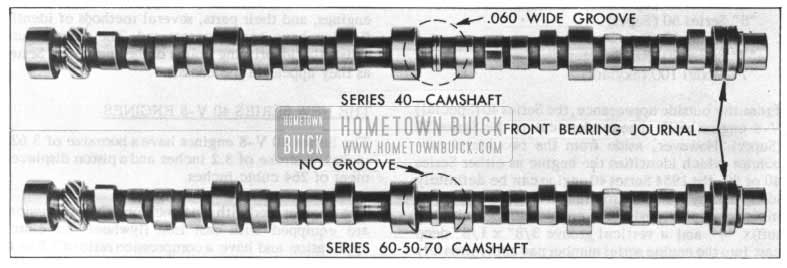 1954 Buick Camshaft Comparison