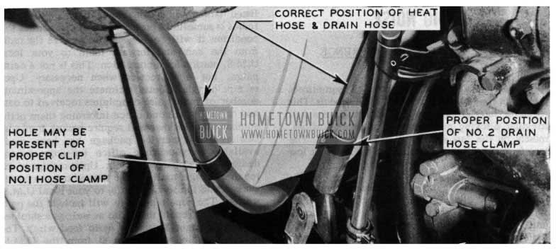 1954 Buick Correct Position of Heater Hose