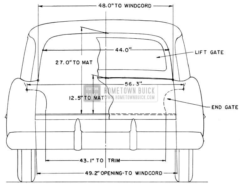 1954 Buick Estate Wagon Interior Dimensions