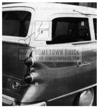 1954 Buick Estate Wagon Tail Gate Weatherstrip