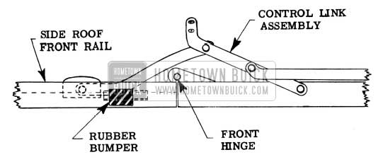 1954 Buick Folding Top Side Roof Rail Bumper