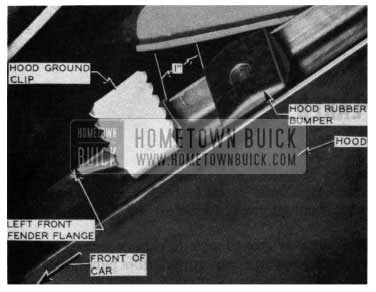1954 Buick Hood Ground Clip
