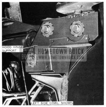 1954 Buick Hood Hinge Support Reinforcement