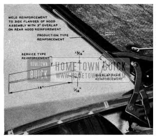 1954 Buick Hood Reinforcement