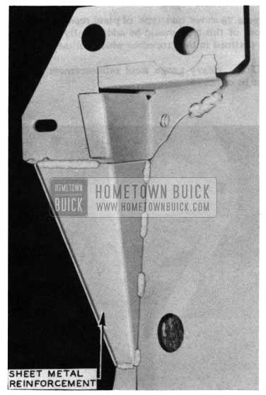 1954 Buick Hood Sheet Metal Reinforcement