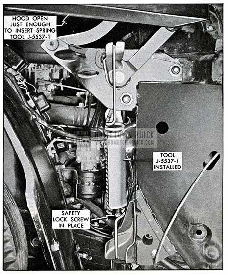 1954 Buick Hood Spring Tool Installation