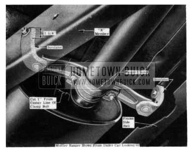 1954 Buick Muffler Support Correction