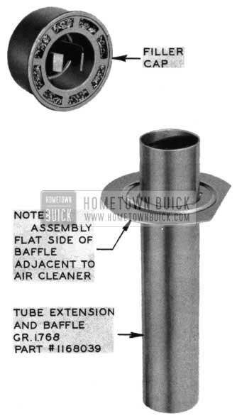 1954 Buick New Filler Tube Extension