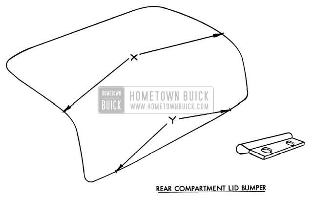 1954 Buick Rear Compartment Lid Bumper Adjustment