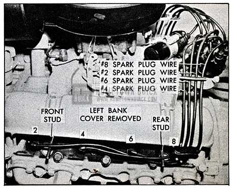 1954 Buick Spark Plug Wire Sequence