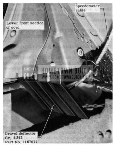 1954 Buick Speedometer Gravel Deflector