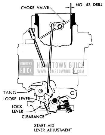 1954 Buick Start Aid Lever Adjustment