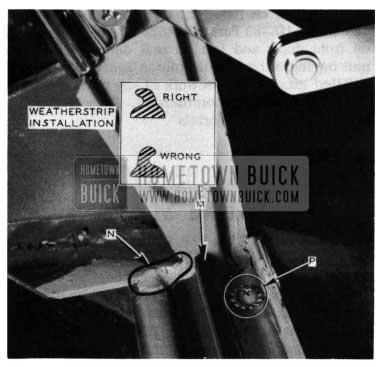 1954 Buick Tail Gate Bottom Weatherstrip Installation