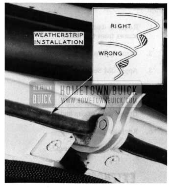 1954 Buick Tail Gate Weatherstrip Installation