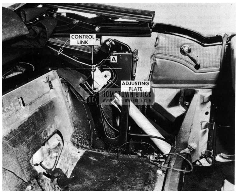1954 Buick Top Boot Installation Adjustment