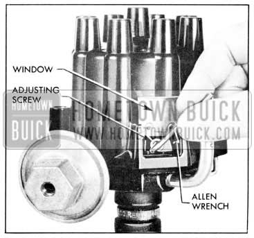 1957 Buick Adjusting Contact Point Dwell Angle